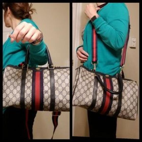Gucci Handbags - Vintage Gucci Boston Doctor Monogram